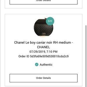 CHANEL Bags - Le boy medium rh caviar black